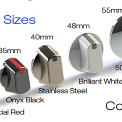 KNOBS sizes