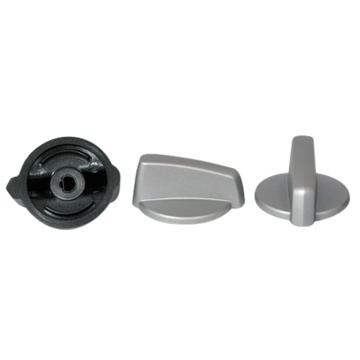 KNOB CONTROL SILVER KIT OF 4