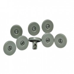 WHEEL KIT DISHWASHER 8 PCS DARK GREY BOTTOM